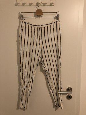 Asos Linen Pants black-white