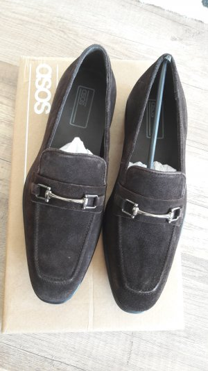 Asos Loafer Slipper Slipons Wildleder Classic Horsebit Trense Mokassins