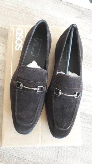 Asos Loafer Slipper Slipons Wildleder Classic Horsebit Trense Mokassins