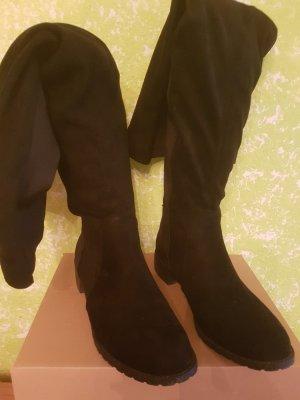 Asos Overknees black imitation leather