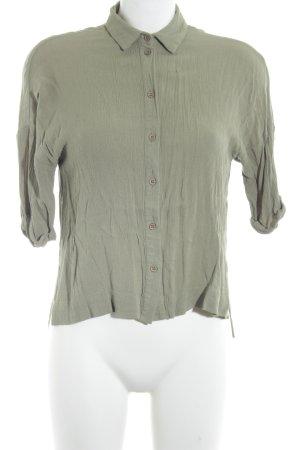 Asos Long-Bluse graugrün Casual-Look