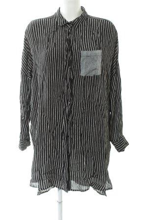 Asos Camicetta lunga nero-bianco motivo a righe stile casual