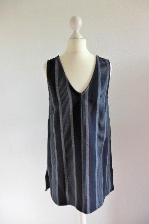 Asos Long Top Tunika Oberteil Shirt Bluse schwarz grau rot Gr. 36 S