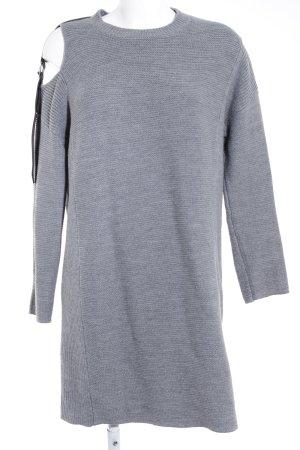 Asos Longpullover grau-schwarz Casual-Look