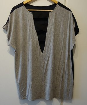 Asos Long Shirt dark blue-light grey