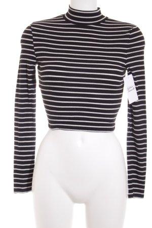 Asos Longsleeve schwarz-weiß Streifenmuster klassischer Stil