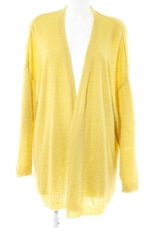 Asos Chaleco de punto largo amarillo oscuro look casual