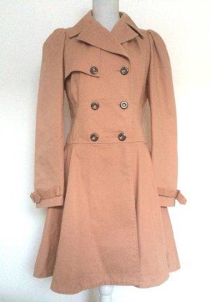 ASOS Mantel Trenchcoat in altrosa mit wunderschönen Details zum Schnüren tailliert