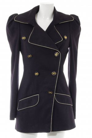 Asos Naval Jacket dark blue-gold-colored elegant