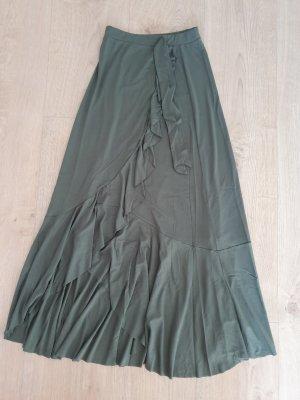 Asos Maxi Rock Khaki Grün mit kleinem Schlitz an der Seite