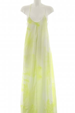 Asos Maxi Dress neon yellow-white abstract pattern extravagant style