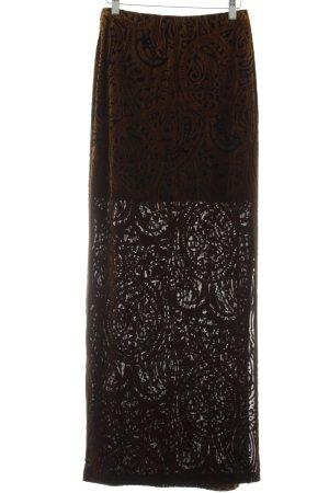 Asos Maxirock schwarz-braun abstraktes Muster Elegant