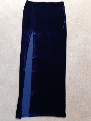 Asos Falda larga azul oscuro Poliéster