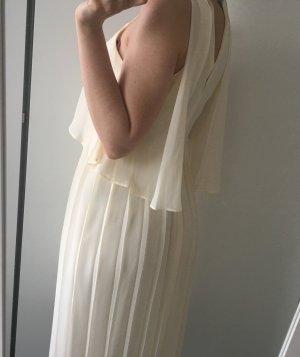 Asos midi creme Kleid mit Plissee (NEU)