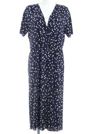 Asos Midi-jurk donkerblauw-wit gestippeld patroon Beach-look