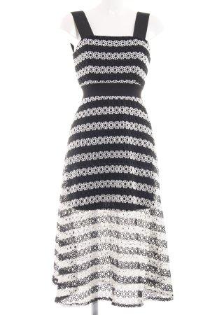 Asos Midikleid schwarz-weiß Streifenmuster Elegant