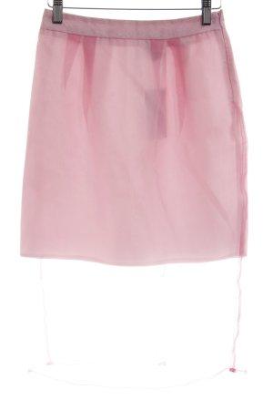 Asos Falda midi rosa look transparente