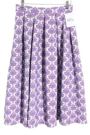 Asos Midirock weiß-lila florales Muster Casual-Look