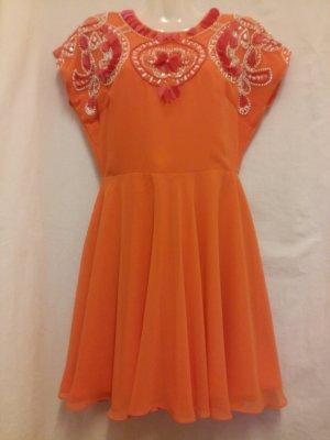 Asos Robe à paillettes orange polyester