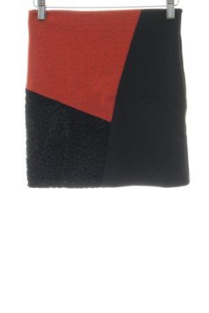 Asos Minirock schwarz-dunkelorange Street-Fashion-Look