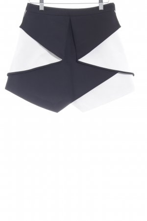 Asos Miniskirt black-natural white elegant