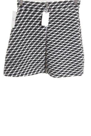 Asos Minirock weiß-schwarz grafisches Muster Street-Fashion-Look
