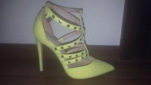 Asos neon gelb high heels