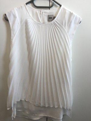 ASOS neue, weiße Bluse mit gesteppten Plissee-Falten