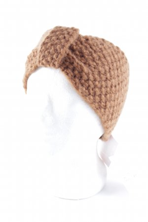 Asos Earmuff bronze-colored-cognac-coloured loosely knitted pattern casual look
