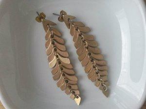 ASOS Ohrhänger matt gold Ohrringe Blogger Style
