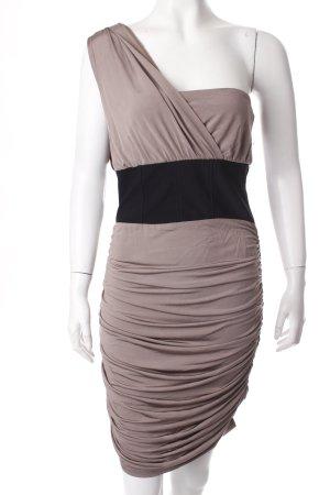 Asos One-Shoulder-Kleid hellbraun-schwarz