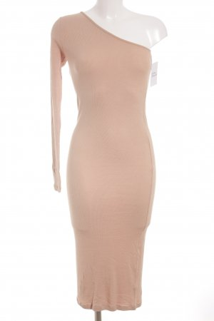 Asos One-Shoulder-Kleid nude Casual-Look
