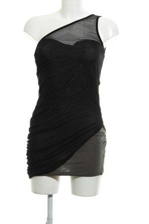 Asos One-Shoulder-Kleid schwarz-khaki Party-Look
