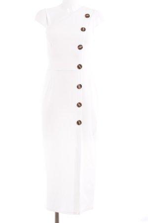 Asos Vestido de un hombro blanco-marrón estilo sencillo