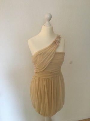 Asos oneshoulder Kleid dress Creme Farben Gr 36