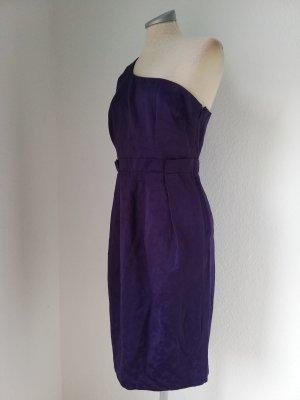 Asos oneshoulder Kleid lila Abendkleid Gr. UK 12 EUR 38 40 M knielang Cocktailkleid Partykleid