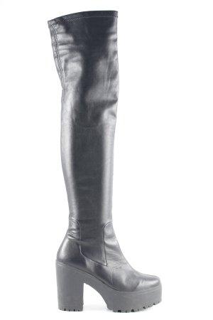 Asos Kniehoge laarzen zwart straat-mode uitstraling