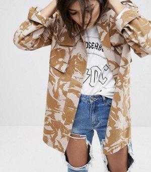 Asos Oversize Jacke gr. 38 Camouflage Muster beige Blogger