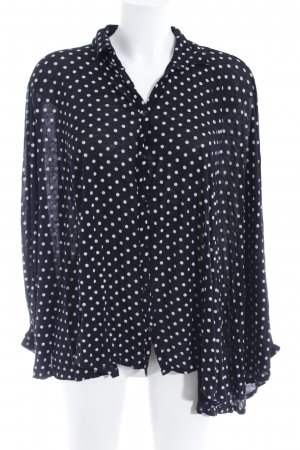 Asos Oversized Bluse schwarz-weiß Punktemuster Casual-Look