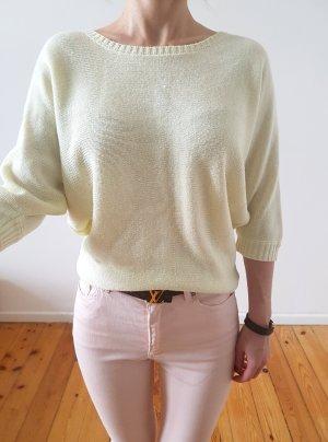 Asos oversized Pullover 34 36 XS S gelb knit Longpulli Oberteil Bluse Tunika Hemd Strick Shirt Top