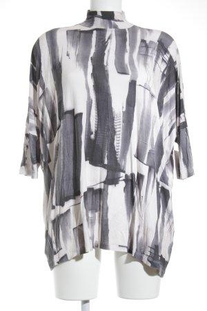 Asos Oversized Shirt hellrosa-dunkelblau abstrakter Druck Casual-Look