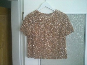 Asos Blouse Top rose-gold-coloured-pink polyester