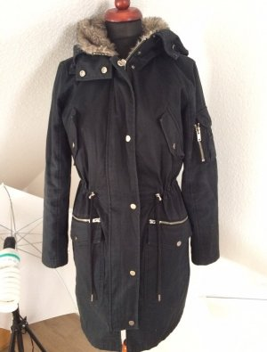 ASOS Parka Fellimitat Fake Fur dunkelblau Inlay NP:159€