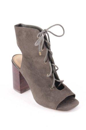Asos Peeptoe-Stiefeletten khaki Street-Fashion-Look
