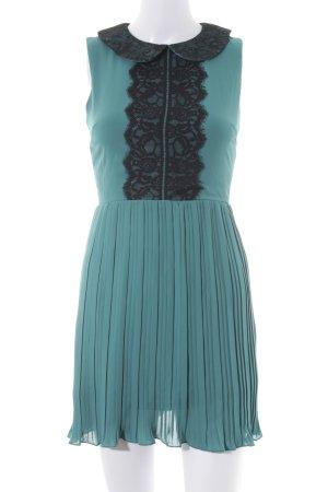 Asos Petite A-Linien Kleid graugrün-schwarz Elegant
