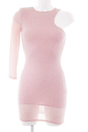 Asos Petite Abendkleid rosa Glitzer-Optik