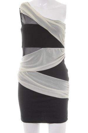Asos Petite Vestido de noche negro-crema elegante