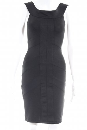 Asos Petite Abendkleid schwarz Streifenmuster Business-Look