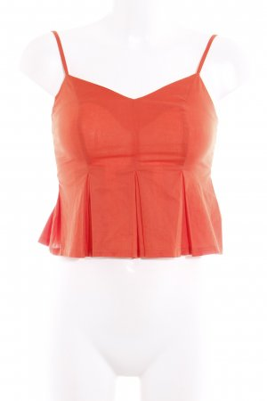 Asos Petite Cropped Top hellrot Romantik-Look