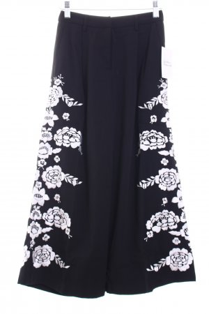 Asos petite Culottes black-white flower pattern extravagant style